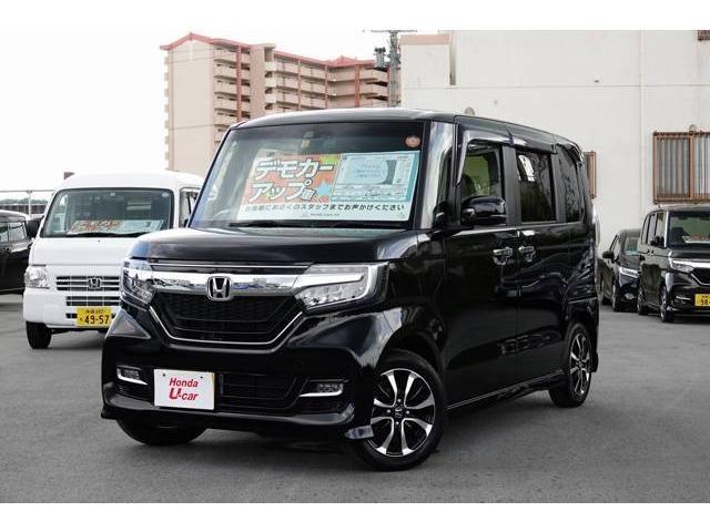 沖縄の中古車 ホンダ N BOX 車両価格 182.8万円 リ済別 平成29年 0.5万km ブラックパール