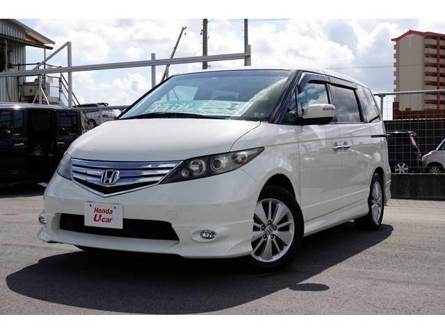 沖縄の中古車 ホンダ エリシオン 車両価格 109.8万円 リ済別 平成22年 4.5万km ホワイトパール