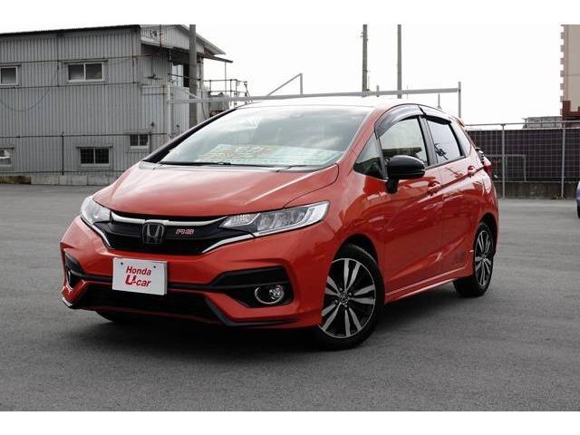 沖縄の中古車 ホンダ フィット 車両価格 184.8万円 リ済別 平成29年 0.5万km オレンジ