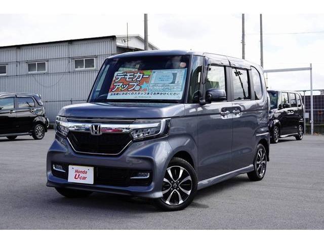 沖縄の中古車 ホンダ N-BOXカスタム 車両価格 183.8万円 リ済別 平成29年 0.4万km グレーメタリック