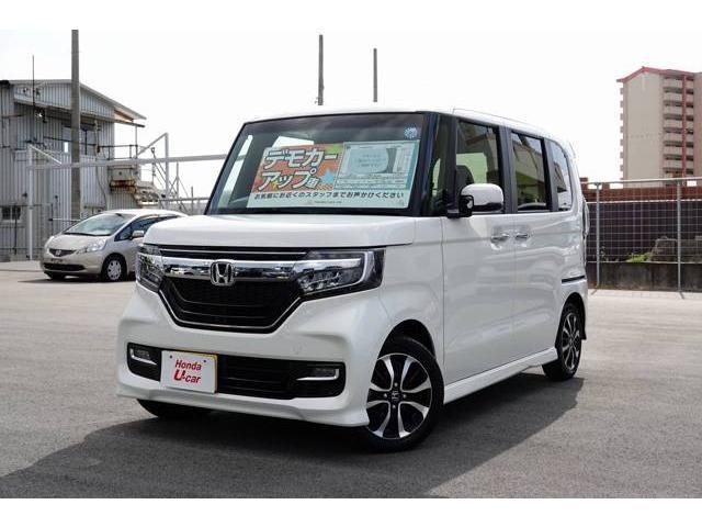 沖縄の中古車 ホンダ N-BOXカスタム 車両価格 172.8万円 リ済別 平成30年 0.4万km ホワイトパール