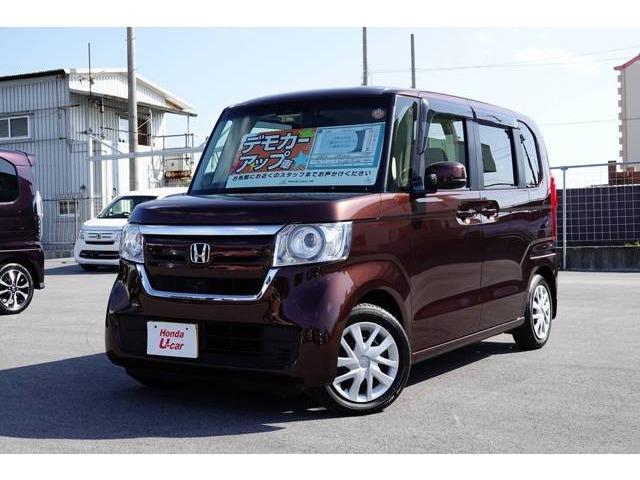 沖縄の中古車 ホンダ N-BOX 車両価格 149.8万円 リ済別 2017(平成29)年 0.5万km ブラウンパール