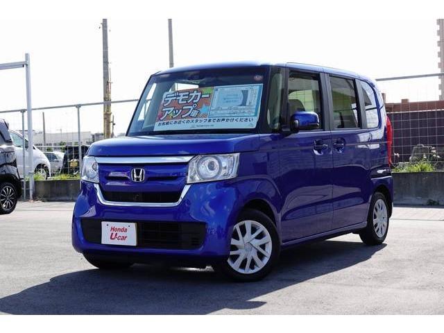 沖縄の中古車 ホンダ N-BOX 車両価格 156.8万円 リ済別 2017(平成29)年 1.1万km ブルーメタリック