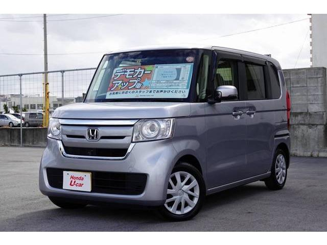 沖縄の中古車 ホンダ N-BOX 車両価格 156.8万円 リ済別 平成29年 0.6万km シルバーメタリック