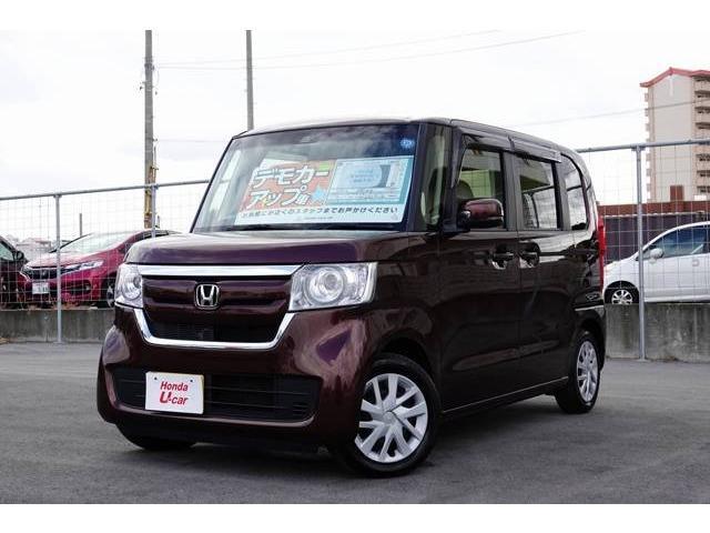 沖縄の中古車 ホンダ N-BOX 車両価格 156.8万円 リ済別 平成29年 0.6万km ブラウンパール