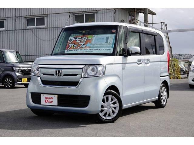 沖縄の中古車 ホンダ N BOX 車両価格 167.8万円 リ済別 平成29年 0.9万km ブルーメタリック