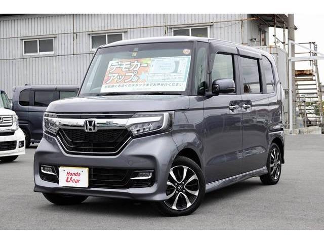 沖縄県の中古車ならN-BOXカスタム G・EXホンダセンシング デモカーアップ車