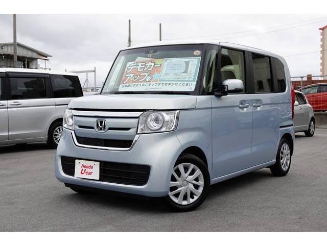 沖縄の中古車 ホンダ N-BOX 車両価格 159.8万円 リ済別 平成29年 0.6万km ブルーメタリック