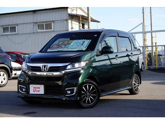 沖縄の中古車 ホンダ N-WGNカスタム 車両価格 149.8万円 リ済別 平成30年 0.5万km グリーンパール