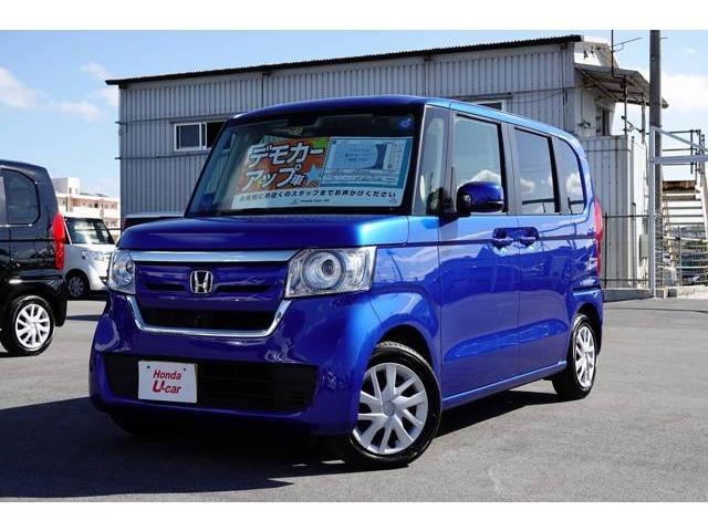 沖縄の中古車 ホンダ N-BOX 車両価格 157.8万円 リ済別 平成30年 0.6万km ブルーメタリック
