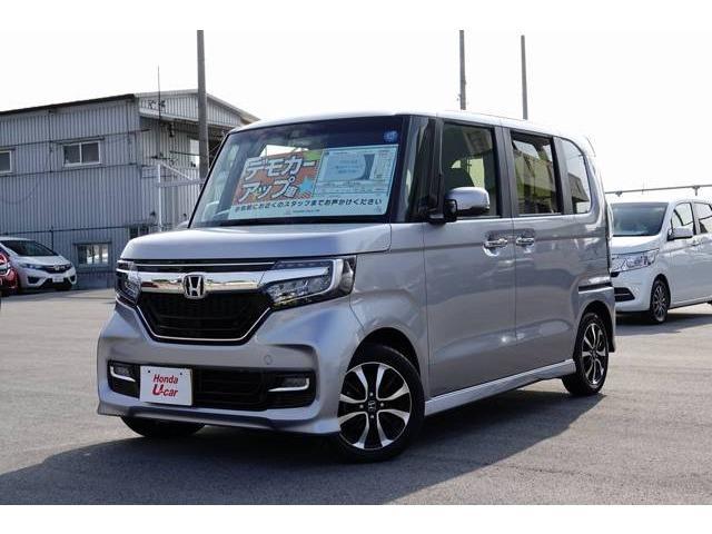 沖縄県の中古車ならN BOXカスタム G・Lホンダセンシング デモカーアップ車