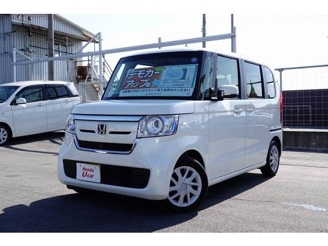 沖縄の中古車 ホンダ N-BOX 車両価格 164.8万円 リ済別 平成30年 0.2万km ホワイトパール