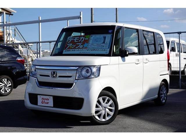 沖縄の中古車 ホンダ N-BOX 車両価格 149.8万円 リ済別 平成30年 0.5万km ホワイトパール
