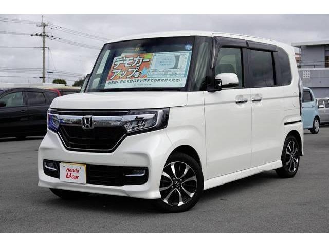 沖縄県の中古車ならN BOXカスタム G・EXホンダセンシング デモカーアップ