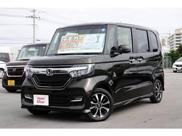 沖縄の中古車 ホンダ N-BOXカスタム 車両価格 159.8万円 リ済別 平成30年 0.8万km ブラウンパール