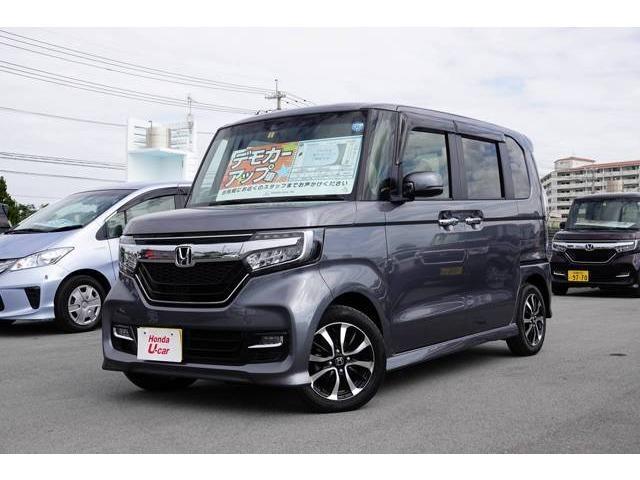沖縄の中古車 ホンダ N-BOXカスタム 車両価格 166.8万円 リ済別 平成30年 0.4万km グレーメタリック