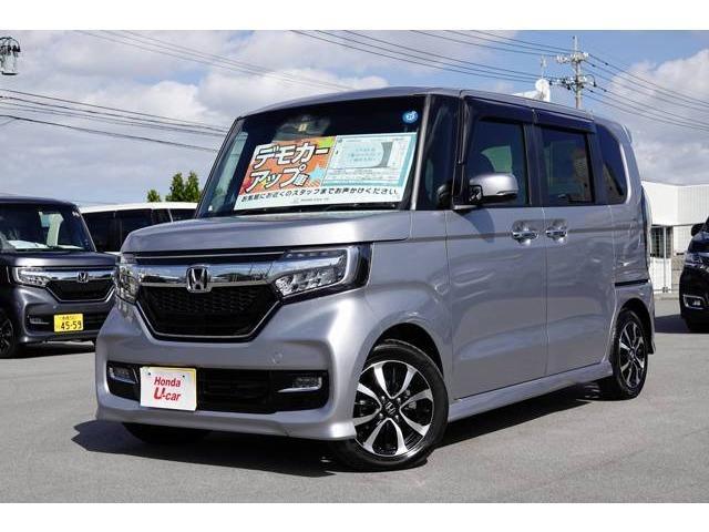 沖縄の中古車 ホンダ N-BOXカスタム 車両価格 161.8万円 リ済別 平成30年 0.6万km シルバーメタリック