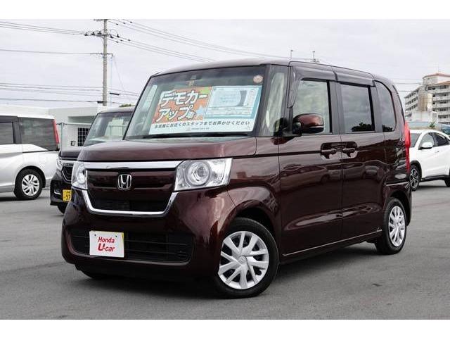 沖縄の中古車 ホンダ N-BOX 車両価格 156.8万円 リ済別 平成29年 0.9万km ブラウンパール