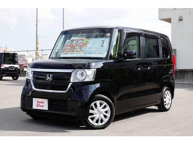 沖縄の中古車 ホンダ N-BOX 車両価格 159.8万円 リ済別 平成29年 0.4万km ブラックパール