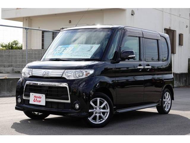 沖縄の中古車 ダイハツ タント 車両価格 58.8万円 リ済別 平成23年 7.4万km ブラック