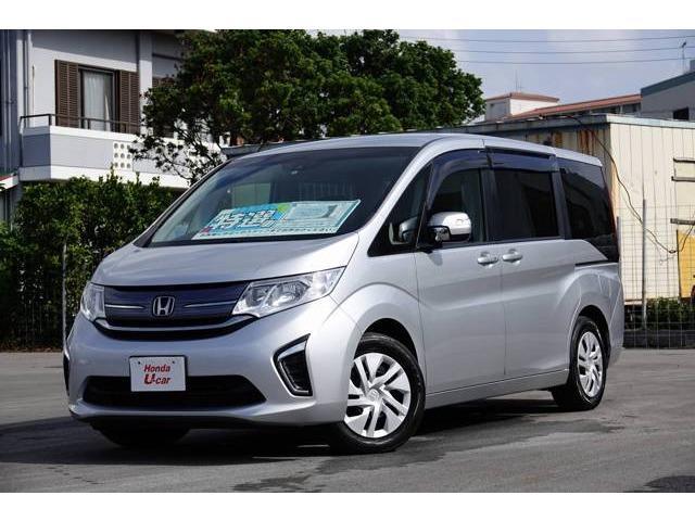 沖縄の中古車 ホンダ ステップワゴン 車両価格 222.8万円 リ済別 平成28年 2.7万km シルバーメタリック