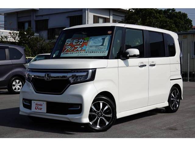 沖縄の中古車 ホンダ N-BOXカスタム 車両価格 161.8万円 リ済別 平成29年 1.0万km ホワイトパール