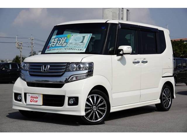 沖縄の中古車 ホンダ N-BOXカスタム 車両価格 109.8万円 リ済別 平成25年 4.6万km ホワイトパール