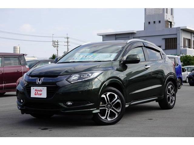 沖縄の中古車 ホンダ ヴェゼル 車両価格 194.8万円 リ済別 平成27年 5.8万km グリーンパール