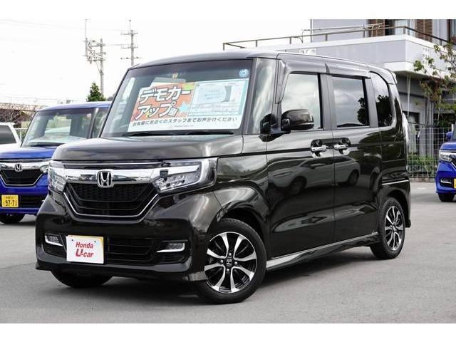 沖縄の中古車 ホンダ N-BOXカスタム 車両価格 156.8万円 リ済別 平成30年 0.5万km ブラウンパール