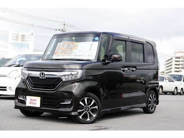 沖縄の中古車 ホンダ N-BOXカスタム 車両価格 159.8万円 リ済別 平成30年 0.6万km ブラウンパール