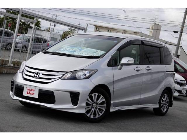 沖縄の中古車 ホンダ フリード 車両価格 116.8万円 リ済別 平成25年 6.1万km シルバーメタリック