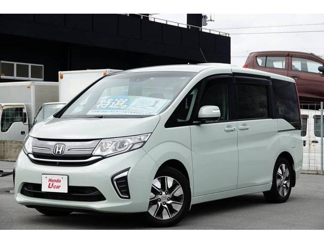 ステップワゴン(沖縄 中古車) 色:ホワイトパール 価格:198.8万円 年式:平成27年 走行距離:3.1万km