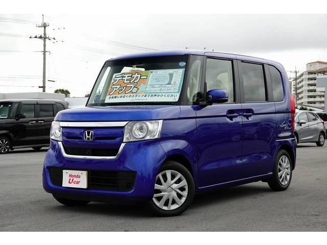 沖縄の中古車 ホンダ N-BOX 車両価格 159.8万円 リ済別 平成30年 0.6万km ブルーメタリック