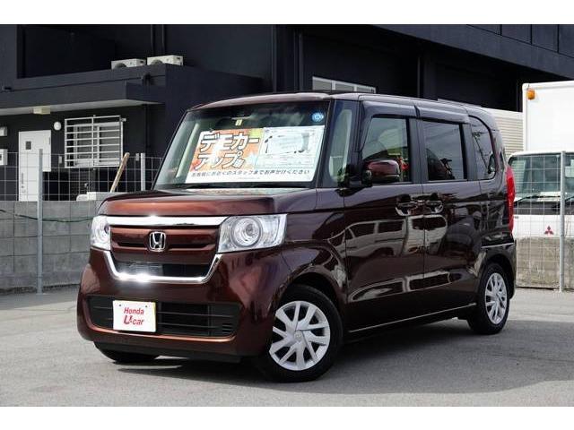 沖縄の中古車 ホンダ N-BOX 車両価格 159.8万円 リ済別 平成30年 1.0万km ブラウンパール