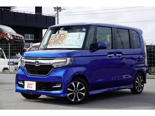 沖縄の中古車 ホンダ N-BOXカスタム 車両価格 170.8万円 リ済別 平成30年 1.2万km ブルーメタリック