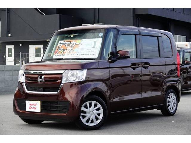 沖縄の中古車 ホンダ N-BOX 車両価格 159.8万円 リ済別 平成30年 0.3万km ブラウンパール