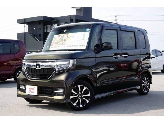 沖縄の中古車 ホンダ N-BOXカスタム 車両価格 164.8万円 リ済別 平成30年 0.5万km ブラウンパール