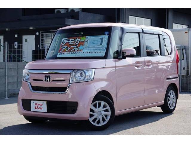 N-BOX(沖縄 中古車) 色:ピンクパール 価格:149.8万円 年式:平成30年 走行距離:0.4万km