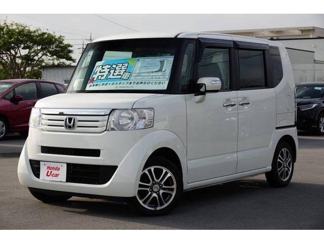 N-BOX(沖縄 中古車) 色:ホワイトパール 価格:98.8万円 年式:平成25年 走行距離:6.2万km