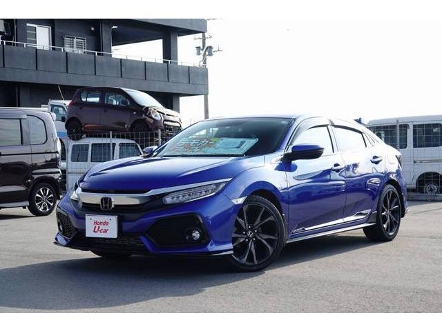 沖縄の中古車 ホンダ シビック 車両価格 256.8万円 リ済別 平成29年 0.9万km ブルーメタリック