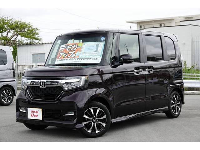 沖縄の中古車 ホンダ N-BOXカスタム 車両価格 164.8万円 リ済別 平成30年 0.7万km パープルパール