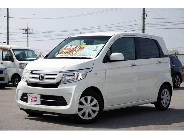 沖縄の中古車 ホンダ N-WGN 車両価格 123.8万円 リ済別 平成30年 0.7万km ホワイトパール