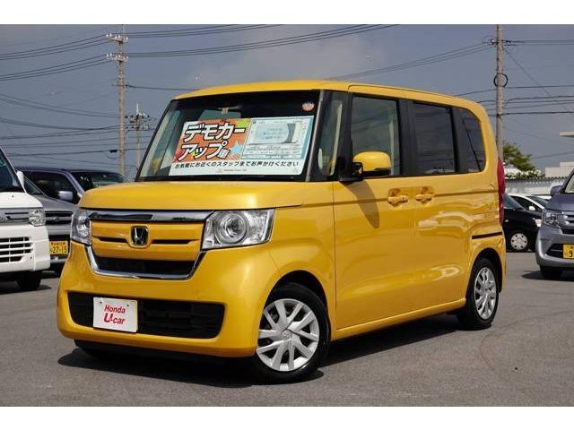沖縄の中古車 ホンダ N-BOX 車両価格 159.8万円 リ済別 2017(平成29)年 1.0万km イエローパール