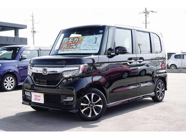 沖縄の中古車 ホンダ N-BOXカスタム 車両価格 170.8万円 リ済別 平成30年 0.8万km ブラックパール
