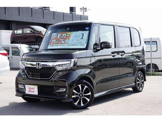 沖縄県の中古車ならN-BOXカスタム G・Lホンダセンシング デモカーアップ