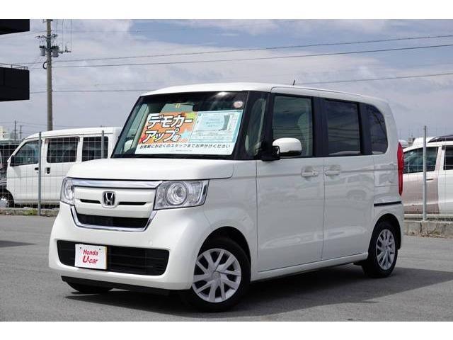 沖縄の中古車 ホンダ N-BOX 車両価格 139.8万円 リ済別 2018(平成30)年 1.0万km ホワイトパール