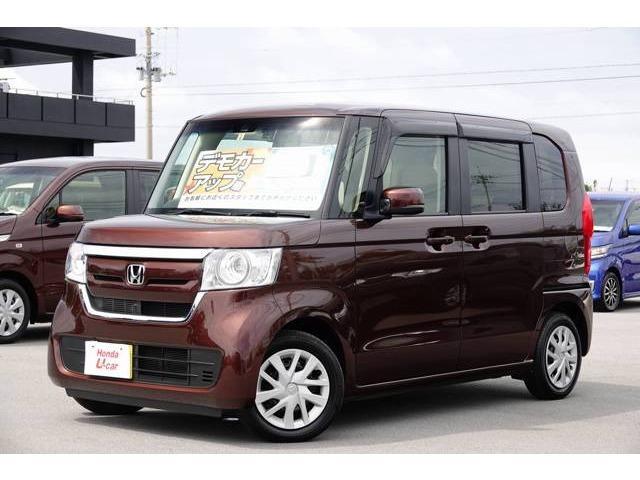 沖縄の中古車 ホンダ N-BOX 車両価格 149.8万円 リ済別 2018(平成30)年 0.5万km ブラウンパール