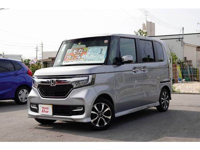 沖縄県の中古車ならN-BOXカスタム G・EXホンダセンシング デモカーアップ