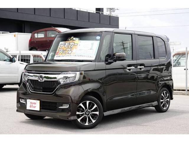 沖縄の中古車 ホンダ N-BOXカスタム 車両価格 160.8万円 リ済別 2018(平成30)年 1.1万km ブラウンパール