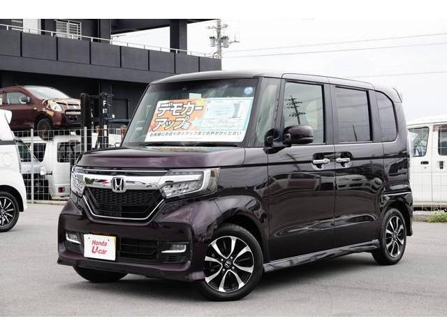 沖縄の中古車 ホンダ N-BOXカスタム 車両価格 161.8万円 リ済別 2018(平成30)年 0.8万km パープルパール